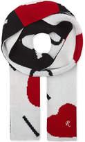 Raf Simons I Love You new wool scarf