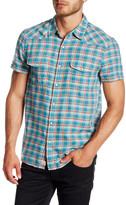 Lucky Brand Short Sleeve Palmetto San Berdu Western California Fit Shirt