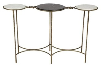 """Mercer41 Kim Two Tone Marble 50"""" Console Table"""