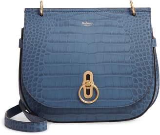 Mulberry Amberley Croc Embossed Leather Crossbody Bag