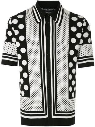 Dolce & Gabbana Polka-Dots Pattern Polo Shirt