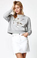 Calvin Klein Foil Cropped Sweatshirt