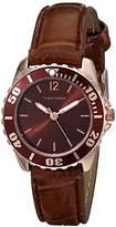 Vernier Women's VNR11183RG Analog Display Japanese Quartz Brown Watch