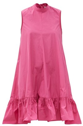 RED Valentino Back-bow Dropped-hem Taffeta Dress - Pink
