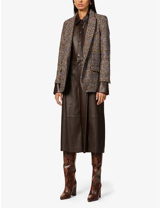Sessun Herringbone-print wool-blend jacket