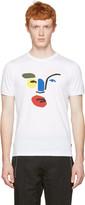 Fendi White Picasso John Boots Face T-shirt