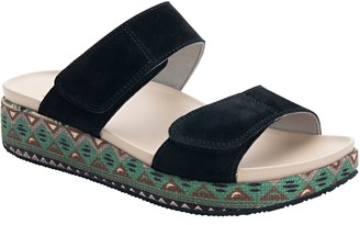 Alegria Leather Adjustable Straps Slip-On Sandals - Maison