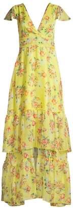 Eywasouls Malibu Kimi Floral Ruffle Tiered Maxi Dress