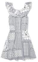 The Children's Place Bandanna Border Print Fit And Flare Dress (Little Girls & Big Girls)