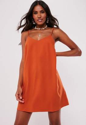 Missguided Orange Crepe Cami Dress
