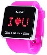 Jewtme Touch Screen Digital LED Waterproof Boys Girls Sport Casual Wrist Watches -Purple