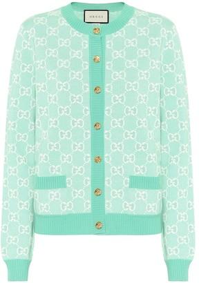 Gucci GG wool and cotton piquA cardigan
