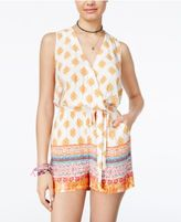 Be Bop Juniors' Printed Surplice Romper with Sash Belt