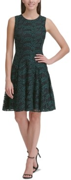 Tommy Hilfiger Petite Woodstock Lace Fit & Flare Dress
