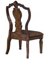 Bed Bath & Beyond Pulaski San Mateo Carved Back Side Chair in Brown