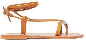 K. Jacques Tiresias Tie-strap Leather Sandals - Tan