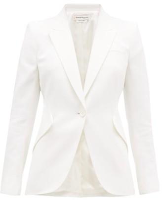 Alexander McQueen Single-breasted Leaf-crepe Jacket - Ivory