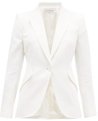 Alexander McQueen Single-breasted Leaf-crepe Jacket - Womens - Ivory