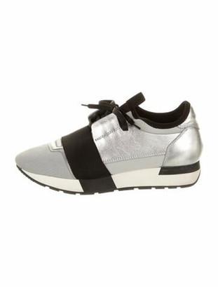 Balenciaga Race Runner Chunky Sneakers Silver