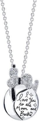 """Peanuts Snoopy """"I Love You To The Moon"""" Crystal Pendant Necklace, 16"""" + 2"""" Extender for Unwritten"""