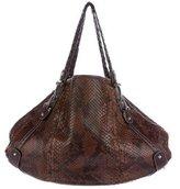 Gucci Large Bit Python Shoulder Bag