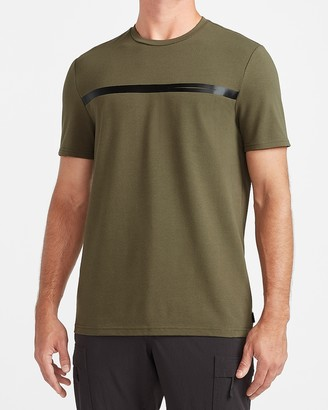 Express Chest Stripe Moisture-Wicking Performance Graphic T-Shirt