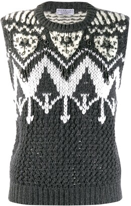 Brunello Cucinelli embellished sweater vest