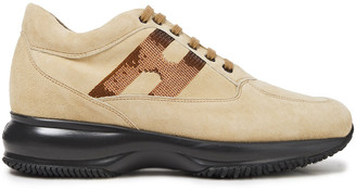 Hogan Sequined Suede Sneakers