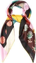 Valentino Counting-print silk scarf