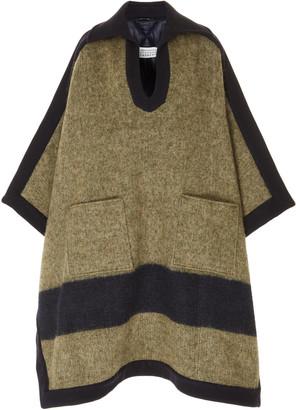 Maison Margiela Oversized Poncho Wool-Blend Coat