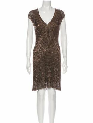 Ralph Lauren Black Label V-Neck Mini Dress Black