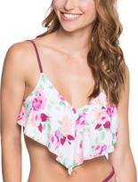 Betsey Johnson White Prisoner of Love Bralette Bikini Top