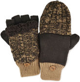 Muk Luks Cable Knit Fingerless Flip Top Gloves