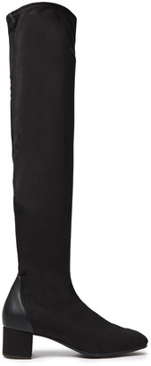 Giuseppe Zanotti Quad 40 Leather-trimmed Faux Stretch-suede Over-the-knee Boots