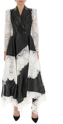 Alexander McQueen Lace Panelled Leather Dress