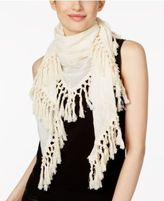 Steve Madden Embroidered Triangle Tassel Scarf