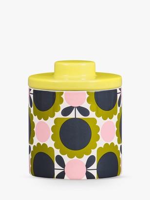 Orla Kiely Scallop Flower Forest Ceramic Storage Jar, 750ml, Green/Multi