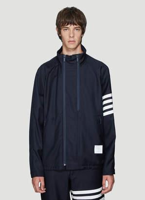 Thom Browne Double Zip Raglan Sleeve Jacket in Navy