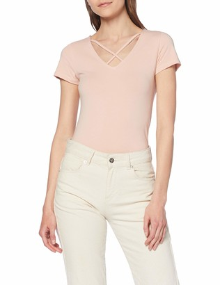 Only Women's Onllive Love S/s Lace Up Front Top JRS T-Shirt