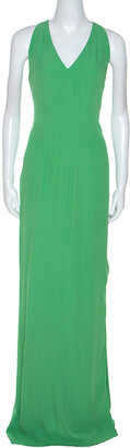 Boss By Hugo Boss Green Sleeveless V-Neck Dallisia Maxi Dress M