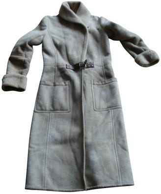Ralph Lauren Beige Leather Coat for Women Vintage