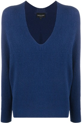 Emporio Armani Loose-Fit Knitted Jumper