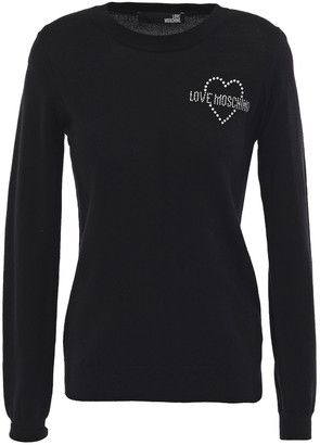 Love Moschino Crystal-embellished Wool Sweater