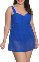 AQUA COUTURE Aqua Couture Crochet Swim Dress Plus