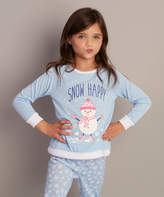 Dollie & Me Blue 'Snow Happy' Pajama Set & Doll Outfit - Girls