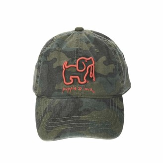 Pavilion Gift Company Camo Dog-Green Unisex Adjustable Snapback Baseball Hat-Puppie Love One-Size-Fits-Most
