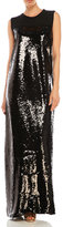 Giambattista Valli Sequined Front Maxi Dress