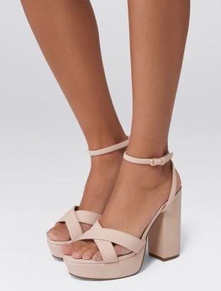 Forever New Katrina Platform Heels - Pink - 41