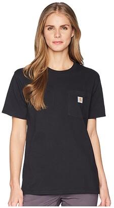 Carhartt WK87 Workwear Pocket Short Sleeve T-Shirt (Black) Women's T Shirt