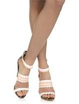Aperlaï Multi Leather Scalloped Heels